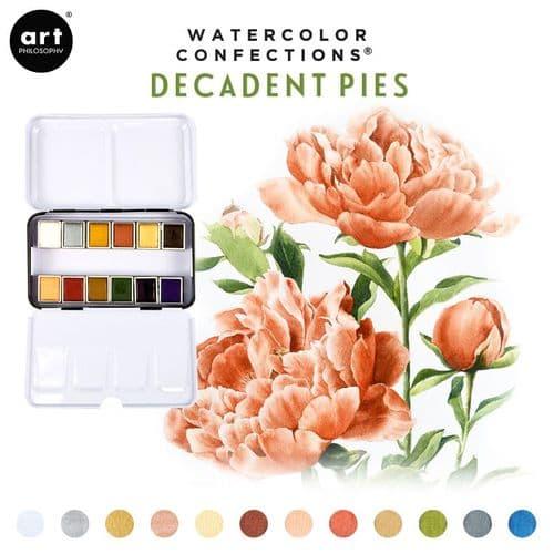 Prima - Watercolor Confections Watercolor Pans - Decadent Pies