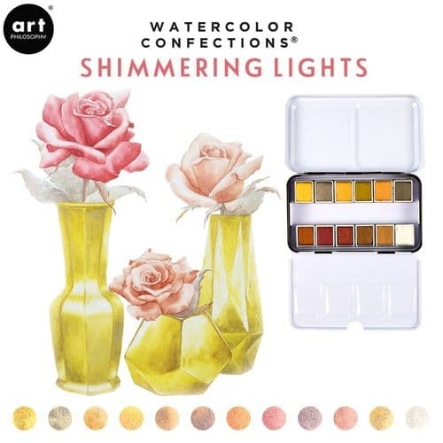 Prima - Watercolor Confections Watercolor Pans - Shimmering Lights