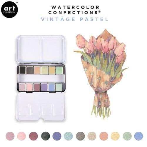 Prima - Watercolor Confections Watercolor Pans - Vintage Pastels