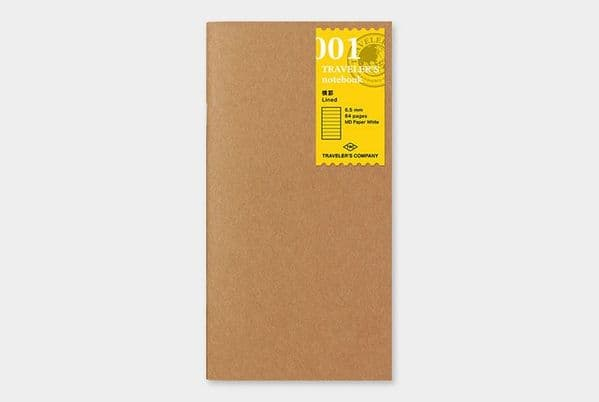 The Traveller's Company - Refills - #001 Lined Notebook