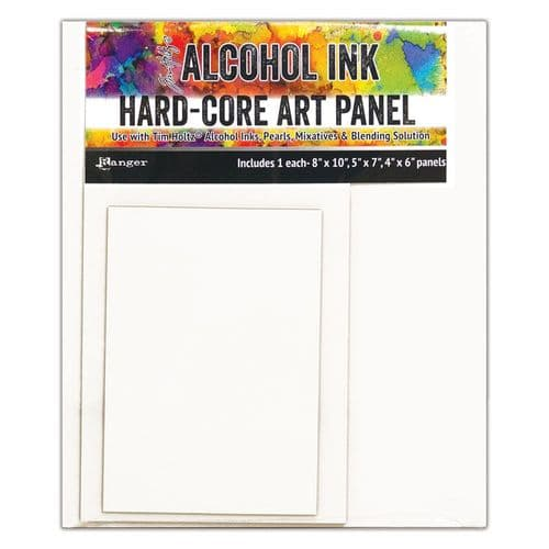 Tim Holtz - Alcohol Ink - Hard-core Art Panel - Assorted Rectangle Pack