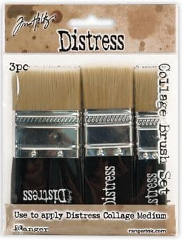 Tim Holtz - Distress Collage Brushes - 3 Brush Collection