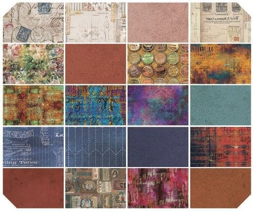 Tim Holtz - Eclectic Elements - Fat Quarter Collection Bold