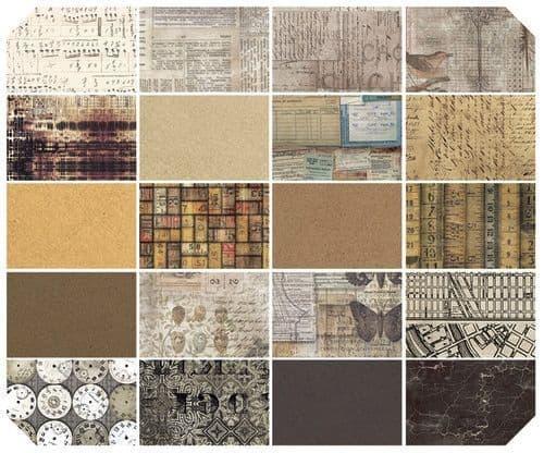 Tim Holtz - Eclectic Elements - Fat Quarter Collection Neutral