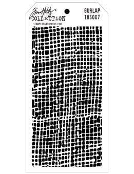 Tim Holtz - Layering Stencil - #007 Burlap