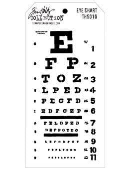 Tim Holtz - Layering Stencil - #010 Eye Chart