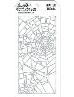 Tim Holtz - Layering Stencil - #014 Shatter