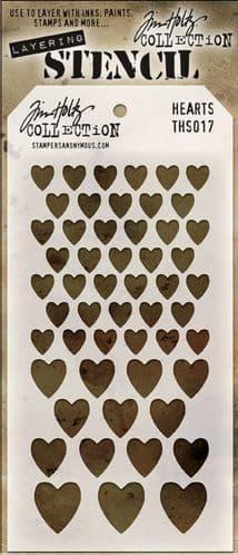 Tim Holtz - Layering Stencil - #017 Hearts
