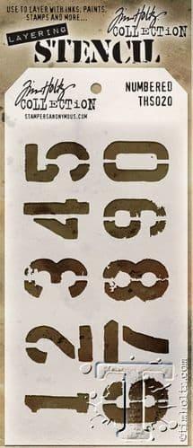 Tim Holtz - Layering Stencil - #020 Numbered