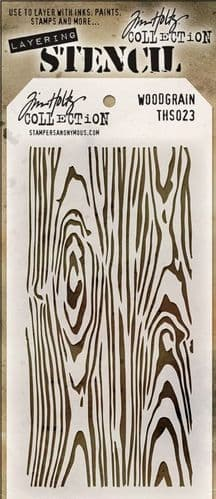 Tim Holtz - Layering Stencil - #023 Woodgrain