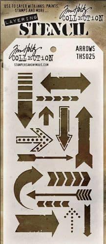 Tim Holtz - Layering Stencil - #025 Arrows