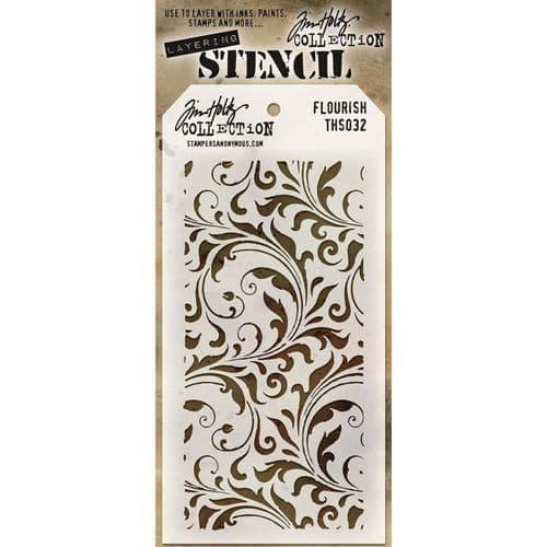 Tim Holtz - Layering Stencil - #032 Flourish