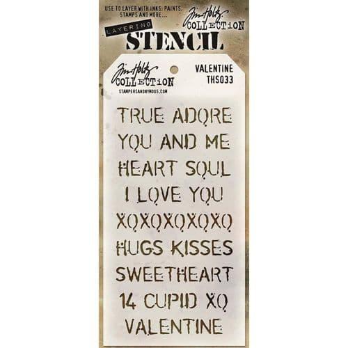 Tim Holtz - Layering Stencil - #033 Valentine