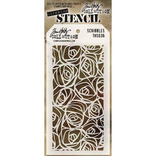 Tim Holtz - Layering Stencil - #036 Scribbles