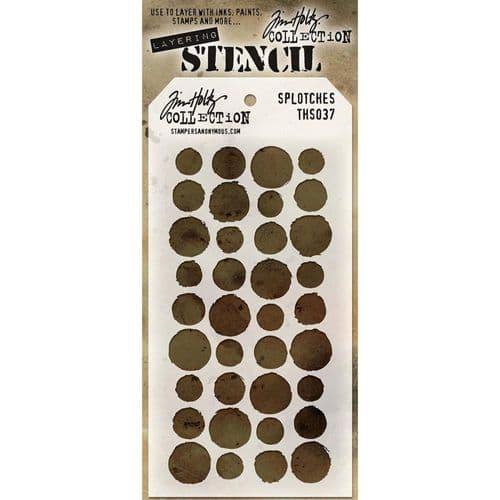 Tim Holtz - Layering Stencil - #037 Splotches