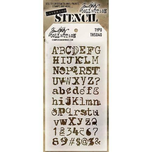 Tim Holtz - Layering Stencil - #040 Typo