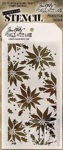 Tim Holtz - Layering Stencil - #049 Poinsettia