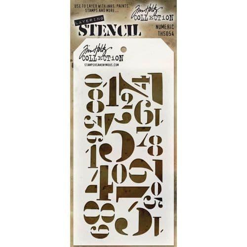 Tim Holtz - Layering Stencil - #054 Numeric
