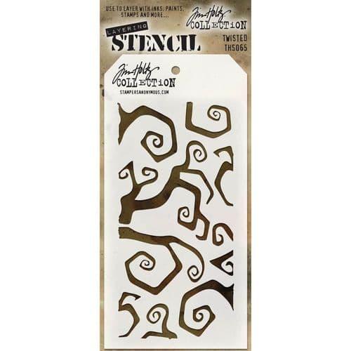 Tim Holtz - Layering Stencil - #065 - Twisted