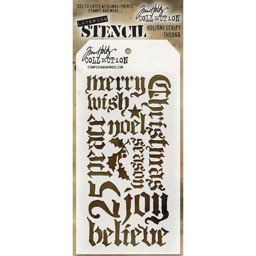 Tim Holtz - Layering Stencil - #066 Holiday Script