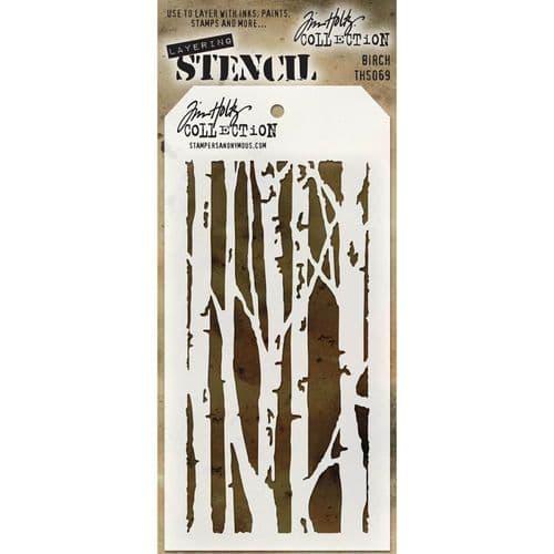 Tim Holtz - Layering Stencil - #069 Birch