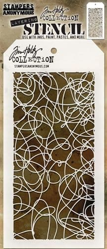 Tim Holtz - Layering Stencil - #072 Doodle