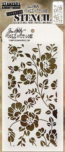 Tim Holtz - Layering Stencil - #077 Floral