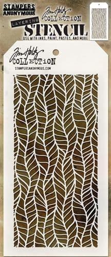 Tim Holtz - Layering Stencil - #079 Feather