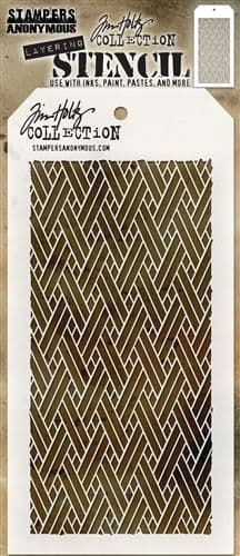 Tim Holtz - Layering Stencil - #082 Woven
