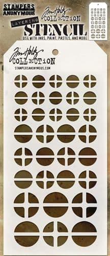 Tim Holtz - Layering Stencil - #087 Screwed