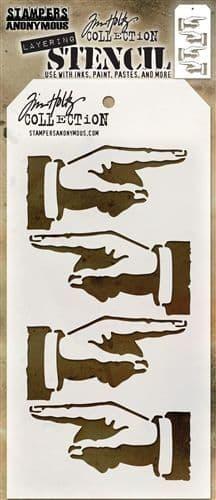 Tim Holtz - Layering Stencil - #088 Direction