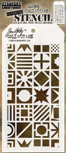 Tim Holtz - Layering Stencil - #123 Patchwork Cube