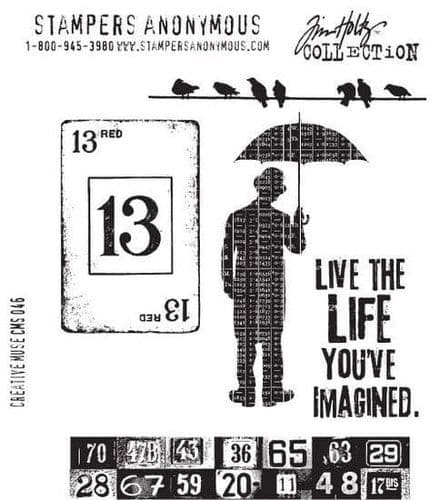 Tim Holtz - Rubber Stamps - CMS046 - Creative Muse