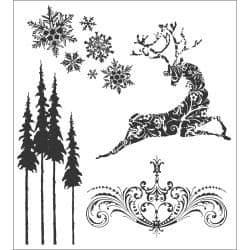 Tim Holtz - Rubber Stamps - CMS052 - Reindeer Flight