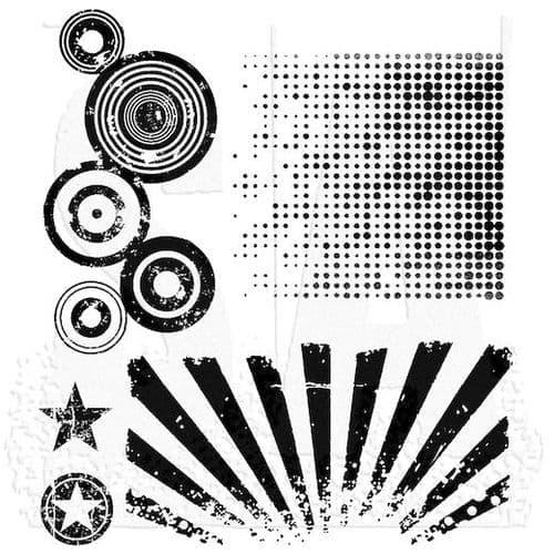 Tim Holtz - Rubber Stamps - CMS056 - Psychodelic Grunge