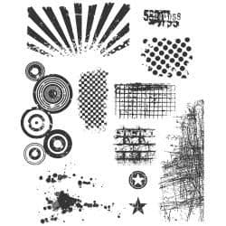 Tim Holtz - Rubber Stamps - CMS089 - Bitty Grunge