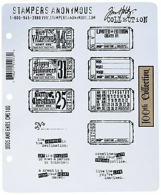 Tim Holtz - Rubber Stamps - CMS100 - Odds & Ends