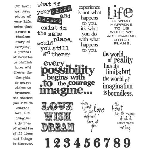 Tim Holtz - Rubber Stamps - CMS110 - Stuff 2 Say