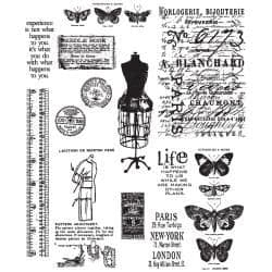 Tim Holtz - Rubber Stamps - CMS123 - Attic Treasures