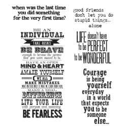 Tim Holtz - Rubber Stamps - CMS165 - Way With Words