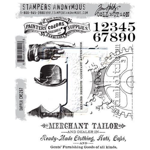 Tim Holtz - Rubber Stamps - CMS267 - Dapper