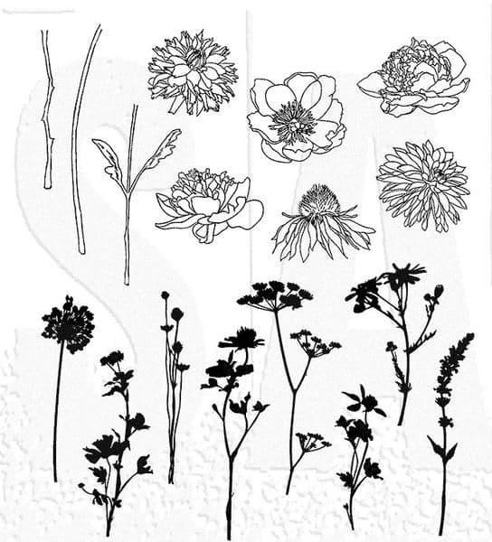 Tim Holtz - Rubber Stamps - CMS269 - Mini Bouquet