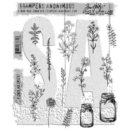 Tim Holtz - Rubber Stamps - CMS297 - Flower Jar