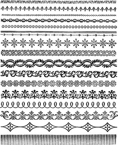 Tim Holtz - Rubber Stamps - CMS326 - Ornate Trims
