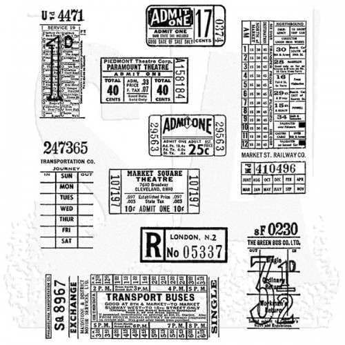 Tim Holtz - Rubber Stamps - CMS337 - Ticket Booth