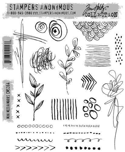 Tim Holtz - Rubber Stamps - CMS364 Mini Media Marks