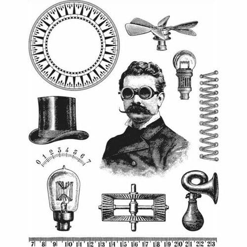 Tim Holtz - Rubber Stamps - CMS373 - The Professor