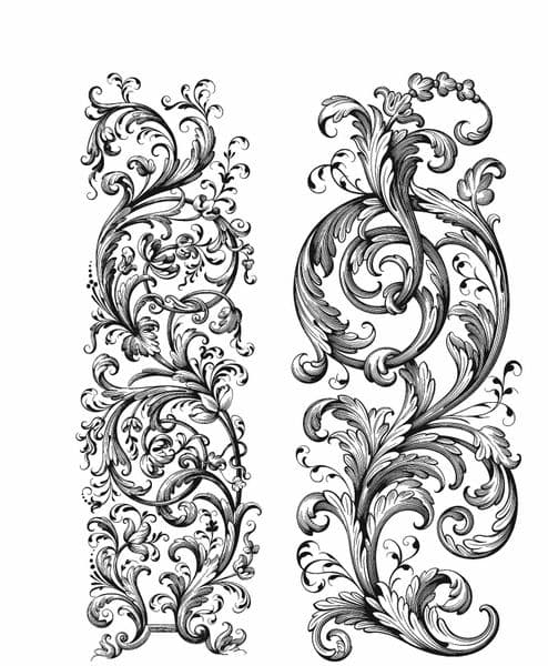 Tim Holtz - Rubber Stamps - CMS400 - Baroque