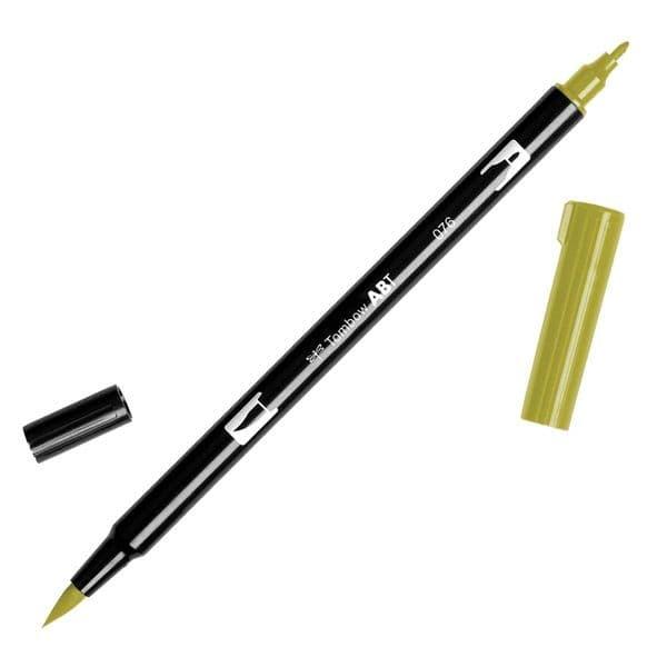 Tombow - ABT Dual Brush Pen - 076 Green Ochre