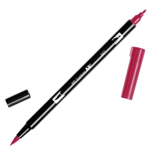 Tombow - ABT Dual Brush Pen - 847 Crimson